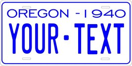 Oregon 1940 Personalized Tag Vehicle Car Auto License Plate - $16.75