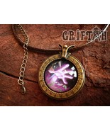 New WoW Warlock Badge Necklace Creative Mosaic Glass Necklace Metal Pend... - $18.99