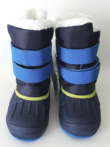 Cat & Jack Toddler Boys Blue Lev Faux Fur Thermolite Insulted Winter Snow Boots image 2