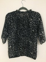 Express Elegant Flowing Ladies Blouse w/ Buttoned Front Never Used Size ... - $18.00