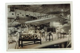 1920's FRANCE FRENCH AIRPLANE FACTORY REAL WIRE PHOTO INTERIOR VIEW PLANES! - $14.20
