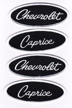 Chevrolet Caprice Black White Embroidered SEW/IRON On Patch 1965 1966 1975 1985 - $15.99