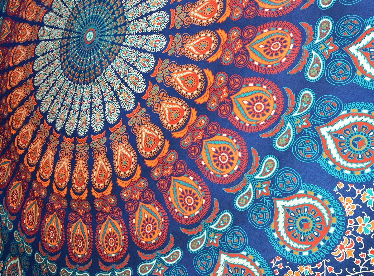Mandala Bohemian Psychedelic Intricate Floral Design