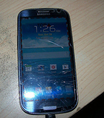 Samsung Galaxy S III 16GB Grey (AT&T) Cracked screen