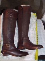 Tory Burch Simone 35mm Boots-Leather Choc.Br. Size 11 100% Authentic Gua... - $349.99