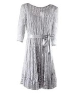MSK New Gray Illusion Floral Lace Dress  Plus  14W    $109 - $59.99