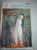 Vintage 1984 Simplicity Adults' Boys' & Girls' Size Medium Costumes # 6665  - $6.99
