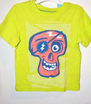 Circo Toddler Boys Skull T-Shirt Green Orange Sizes  18M, 24M, 2T, 3T 4T 5T NWT - $8.99
