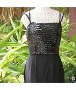 Mod Vintage Carol Craig 60s Sequin Maxi Gown Formal Dress Sequined Sheat... - $75.00