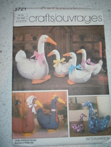 Vintage 1985 Simplicity Crafts Geese Pattern # 6721 - $3.99