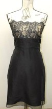 Ann Taylor Lace Women Dress Silk Lining Sexy Tube Strapless Black 10 Prom Ball - $74.44