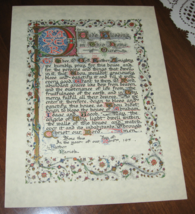 A Prayer Asking for God's Blessing on This House-Illuminated-9X12-Parchm... - $12.00