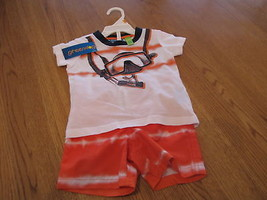 Green Dog baby 12M baby 12 months swim shorts t shirt 2 PC set NEW ORN - $13.85