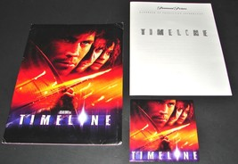 2003 TIMELINE R. Donner Movie PRESS KIT Folder CD Production Notes Paul ... - $15.19