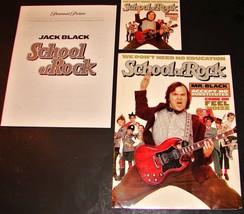 2003 SCHOOL OF ROCK Movie PRESS KIT Folder, CD, Production Notes JACK BLACK - $10.44