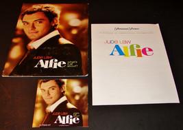 2004 ALFIE Movie PRESS KIT Folder, CD, Production Notes JUDE LAW Marisa ... - $15.19