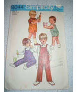 Vintage 1970 Simplicity Toddler & Child's Size ½ Overalls Pattern # 9044  - $3.99
