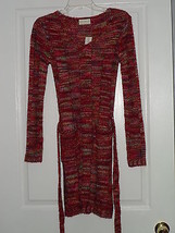 Bobbie Brooks Sweater Dress Size S Multi Color Nwt - $24.69
