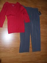 LADIES BRIGGS NEW YORK DRESS PANTS SIZE 16 & FADED GLORY SWEATER TOP SIZ... - $27.54