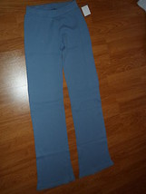 Spirit Ladies Thermal Knit Pants Size S Blue Made In Usa Nwt - $24.40 CAD