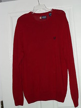 Men's Chaps Sweater Pullover Size L Red  Nwt - $20.89