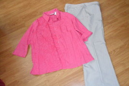 LADIES INGREDIENTS DRESS PANTS SIZE 18 & SAG HARBOR SHIRT SIZE 1X NWT - $27.74