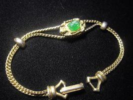 Vintage GOLDETTE TURTLE Gold tone Slide BRACELET - 7 1/4 inches long - $45.00