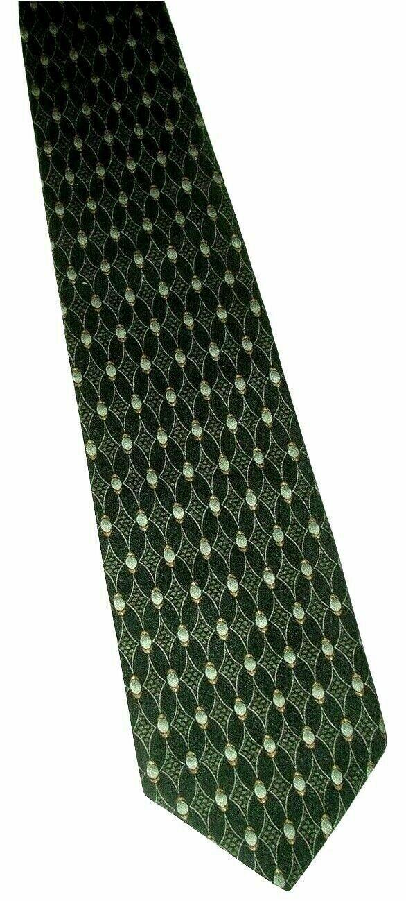 "Kenneth Cole Beautiful Men's Silk Neck Tie Navy Blue Geo 56"" NWOT"