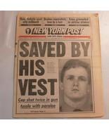 New York Post October 31 1995 Saved by his vest Keith Schweers N2 - $39.99