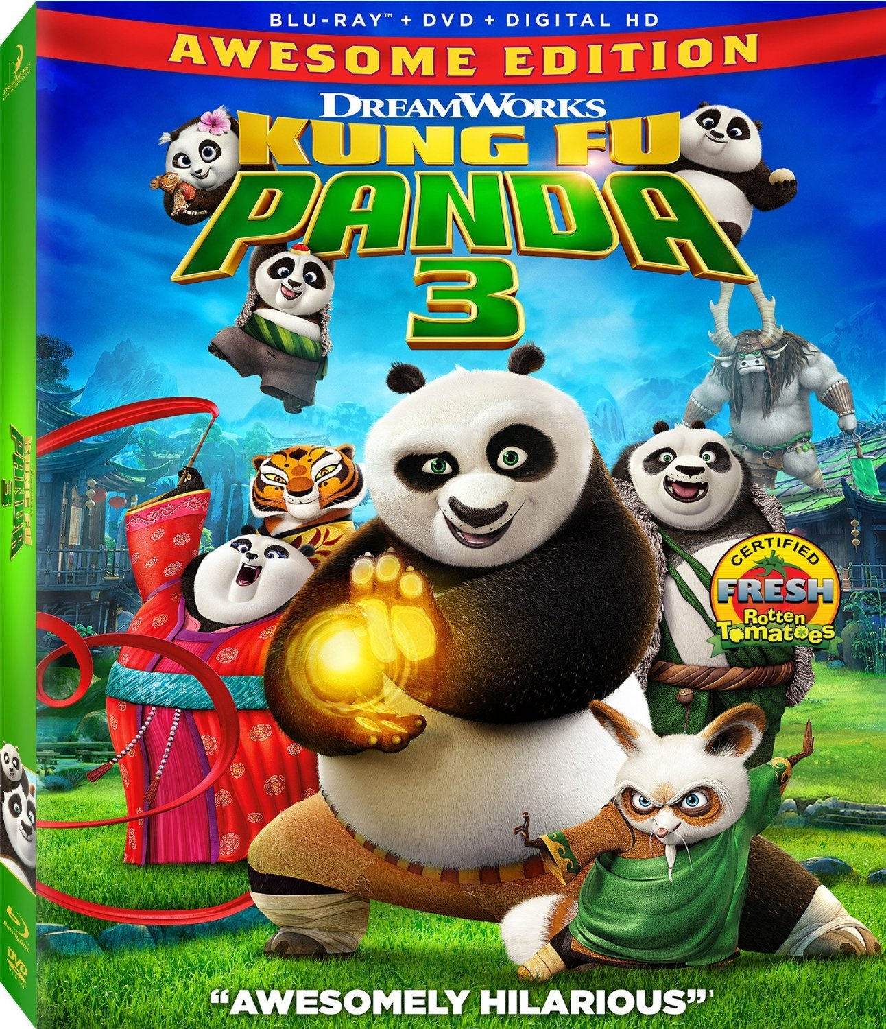 Kung Fu Panda 3 (2016) Blu-ray/DVD + Digital HD New