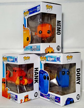 FUNKO POP Dory Hank & Nemo Set of 3 DISNEY PIXAR Finding Dory Vinyl Figures - $41.99