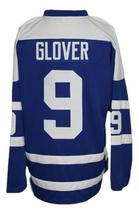 Any Name Number Cleveland Barons Retro Hockey Jersey Blue Glover Any Size image 2