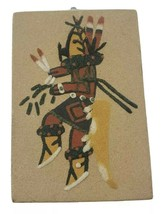 """Vintage 1978  (2)  Navajo Sand Paintings  By Ernest Hunt 4""""x6"""" signed an... - $69.20"""