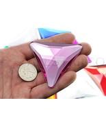 68mm Pink H112 Flat Back Triangle Acrylic Gems Pro Grade Individually Wr... - $9.26