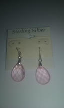 Handmade Sterling Silver Light Pink Faceted Tea... - $1.99