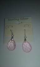 Handmade Sterling Silver Light Pink Faceted Tea... - $1.99