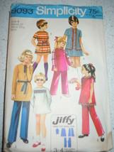 Vintage 1970 Simplicity Child's & Girls Size 8 Mini Dress & Pants Patter... - $5.99