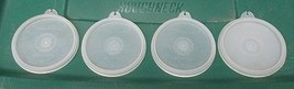 ~~ Vintage Lot Of 4 Tupperware Replacement Seal/Lids ~~ #733 ~~ Clear ~~... - $6.00