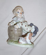 Lefton China Sevilla by Audrey Sebastian Clown & Dog Figurine #05517 19... - $19.99