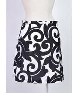 J.CREW Black & White Print Flare A Line Midi Skirt Womens Size 4  Waist ... - $18.80