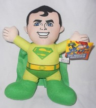 Superman DC Super Friends Toy Factory Plush Soft Doll Green Yellow - $12.84