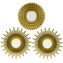 Gold Mirrors for Wall Pack of 3 - BONNYCO | Wall Mirrors for Room Decor ... - $24.72