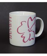 Hawaii Pink Hibiscus Flower Hilo Hattie Souvenir Coffee Mug Cup Vintage ... - $9.99