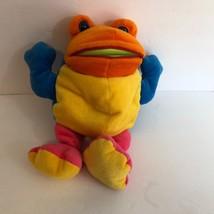 Commonwealth Gobbleball Gobble Ball Plush Frog 1991 Hand puppet catches ... - $18.29