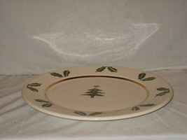 """12"""" White Green with Gold Trim Christmas Plate ... - $14.80"""