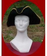 Colonial Tri-corn Hat with Gold Trim Pirate - $34.95