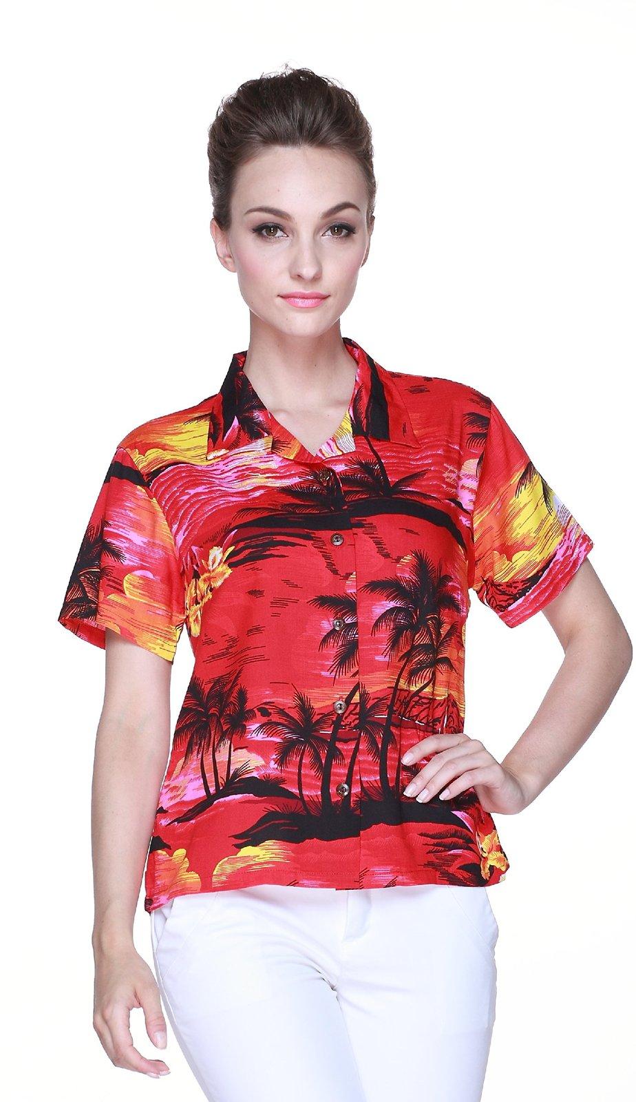 couple matching hawaiian luau outfit aloha shirts in