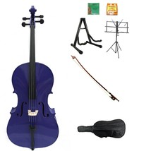 Merano 1/10 Size Purple Cello with Bag, Bow+Extra Strings+2 Stands+Tuner... - $299.99