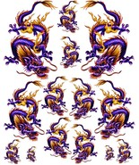 Rockabilly Tattoo Art Guitar Dragon Waterslide Decal 1   #45 - $9.95