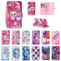 Leather Pattern Smart Wallet & Hand Rope Case for Samsung Galaxy J7 2016 J710 - $6.92